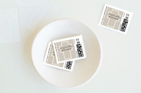 Minimalist Cross Holiday Stamps