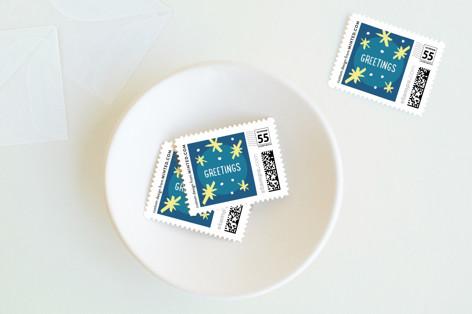 Bold Brush Hanukkah Holiday Stamps