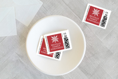 Snowflake Window Holiday Stamps