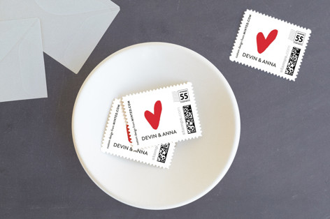 Married Little Heart Holiday Stamps