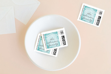 Aquarelle Holiday Stamps