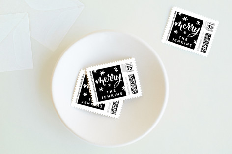 Aglow Holiday Stamps