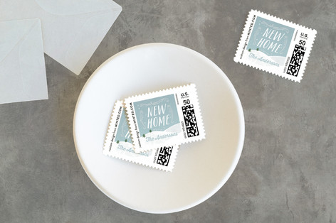 Snow Flurries Holiday Stamps
