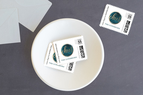 Modern Cheer Holiday Stamps