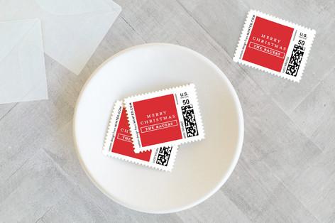 Gilded Frame Holiday Stamps