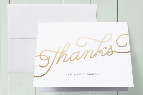 Let's Make it Rain Foil-Pressed Baby Shower Thank You Cards