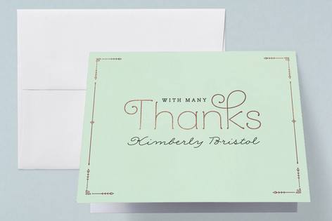 Blushing Brunch Foil-Pressed Baby Shower Thank You Cards