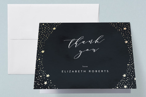 balcony of stars Foil-Pressed Baby Shower Thank You Cards