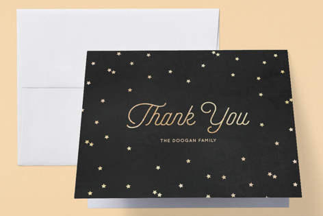 Wonder Foil-Pressed Baby Shower Thank You Cards