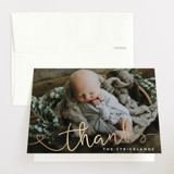 Foil-Pressed Baby Shower Thank You Cards