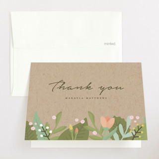 Whimsical Wreath Baby Shower Thank You Cards