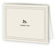 Vintage Rocker Baby Shower Thank You Cards