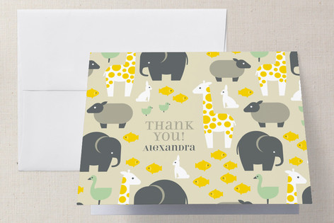 Born Free Baby Shower Thank You Cards