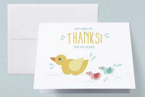 Waddle It Be Baby Shower Thank You Cards