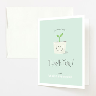 Little Sprout Baby Shower Thank You Cards