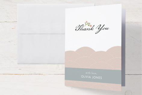 Japanese Garden Baby Shower Thank You Cards