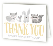 Woodland Buddies Baby Shower Thank You Cards