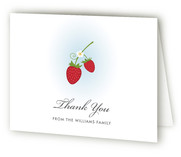 Wild Strawberries Baby Shower Thank You Cards