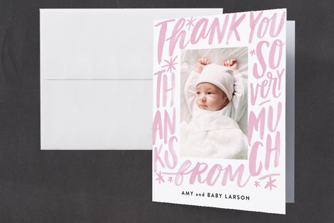 Word Play Frame Baby Shower Thank You Cards