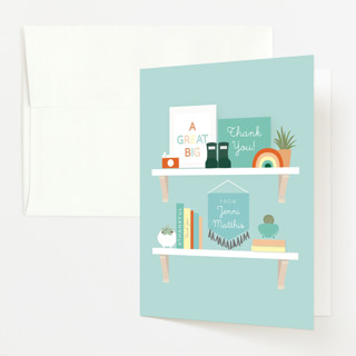 Nursery Shelves Baby Shower Thank You Cards