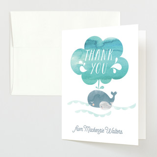Whale Love Baby Shower Thank You Cards
