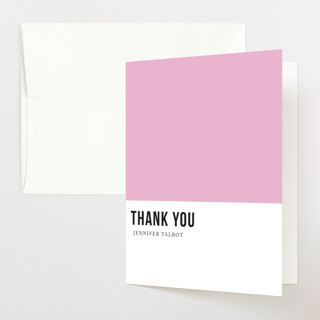 tickled pink Baby Shower Thank You Cards