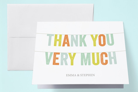 Twice The Fun Baby Shower Thank You Cards