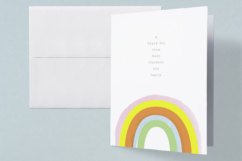 Little Rainbow Baby Shower Thank You Cards