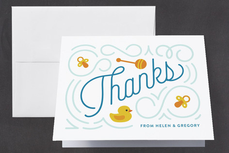 Splash Baby Shower Thank You Cards