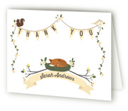 Woodland Baby Baby Shower Thank You Cards