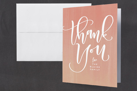 Sherbet Baby Shower Thank You Cards