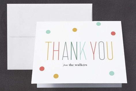 Oh Baby Confetti Baby Shower Thank You Cards