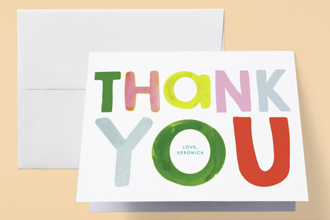 Bright Colorful Baby Baby Shower Thank You Cards