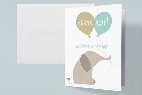 color me grey Baby Shower Thank You Cards
