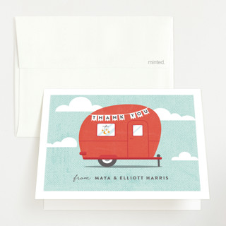 Cute Camper Baby Shower Thank You Cards