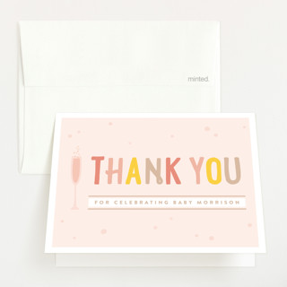 Baby Brunch Baby Shower Thank You Cards