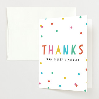 Bright Confetti Pop Baby Shower Thank You Cards