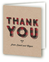 Little Man Baby Shower Thank You Cards