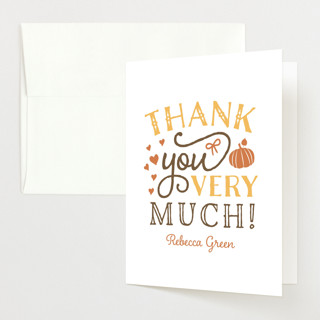 Pumpkin Spice Baby Shower Thank You Cards