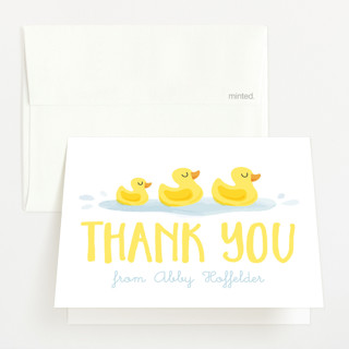 Rubber Duckies Baby Shower Thank You Cards