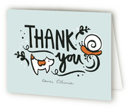 Frogs and Snails Baby Shower Thank You Cards
