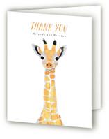 Baby Animal Giraffe Baby Shower Thank You Cards