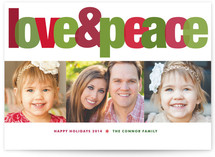 Love &amp; Peace Holiday Photo Cards