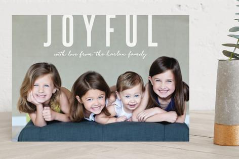 Joyful Greetings Holiday Photo Cards