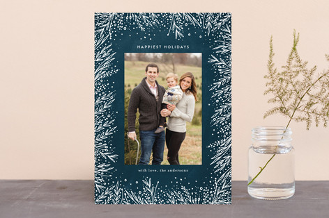 Filigree Frame Holiday Photo Cards