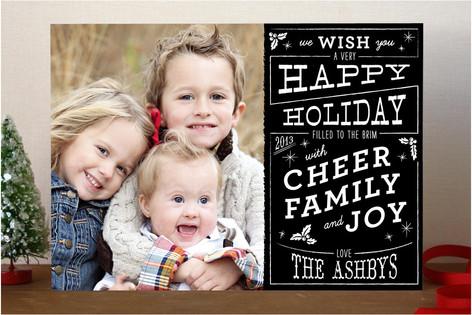 Christmas Cafe Holiday Photo Cards