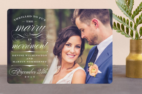 Marry Merriment Holiday Photo Cards