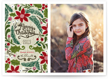 Sketchbook Foliage Holiday Photo Cards