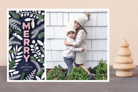 Merry Cutout Holiday Photo Cards