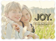 Carved Joy Holiday Photo Cards